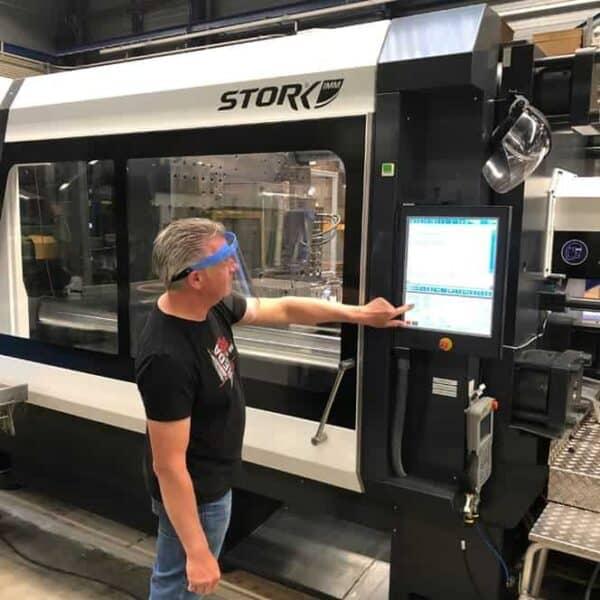 Gelaatsscherm Vista Protector productiemedewerkers gelaatsbescherming