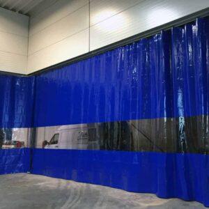 Industriegordijn Blauw Combo op maat