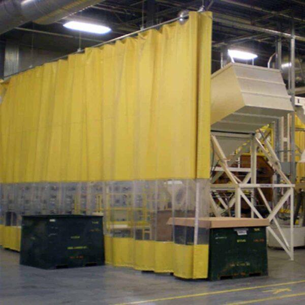 Industriegordijn Geel Combo op maat