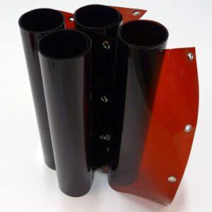 Laslamellen Brons 200 x 200 cm (bxh) 4 Lamellen 57 cm x 1 mm