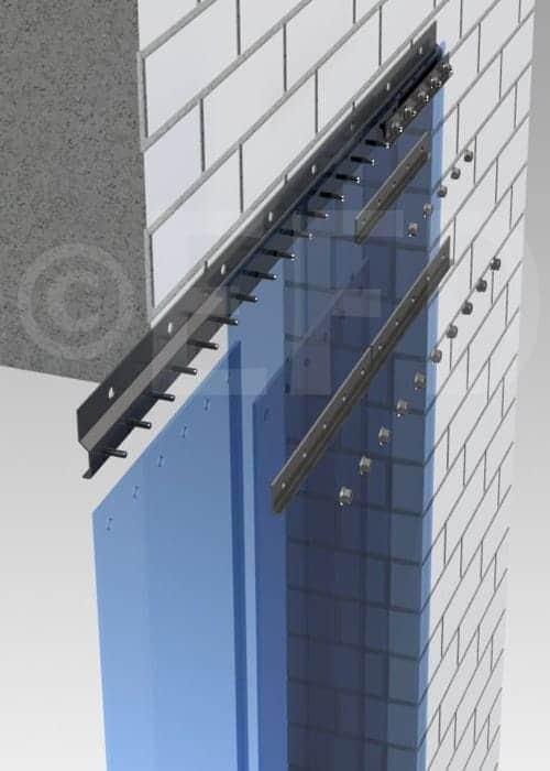 PVC strokengordijn rails ophangsysteem STD wand