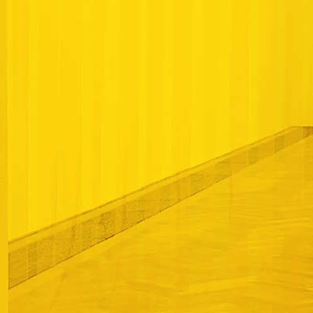 pvc stroken gordijn geel transparant